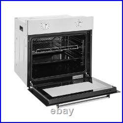 2.2KW Built In Single Electric Oven Black 70L Stainless Steel with Wire Shelf