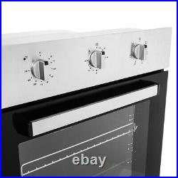60cm Built-in Single Electric Fan Oven in Stainless Steel Energy Class A/A+