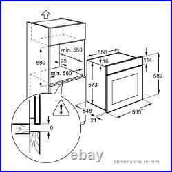AEG BEB231011M SurroundCook Built In Single Oven Stainless Steel HA1838
