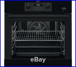 AEG BEB351010B Mastery Built In Electric Single Oven added Steam Black FA8842