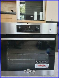 AEG BES352010M SteamBake Built-In Integrated Single Oven, Ex Display