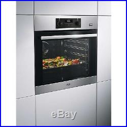 AEG BES355010M Electric Built-in Single Oven With SteamBake Antifin BES355010M