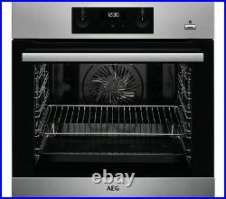 AEG BES356010M SteamBake Built In Multifunction Single Oven U42687