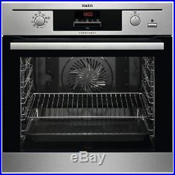AEG BP500352DM Single Built-In Multifunction SteamBake Oven, Stainless Steel