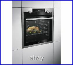 AEG Built in Single Electric Steam Oven A+ Stainless Steel & Black BPS555020M