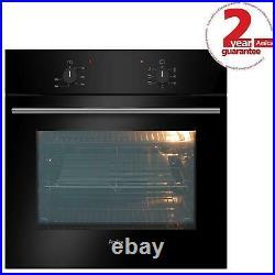 Amica ASC200BL Black 60cm Built-in 5 Function 62L Single Electric True Fan Oven