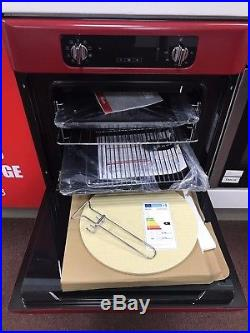 BAUMATIC BOR600RD Retro Style Built In Single Electric Oven RED Not SMEG Stoves