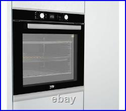 BEKO Built in Electric Single Fan Oven 82 litres A Rated BXIF35300X Black