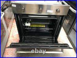 Baumatic BOFM604X Built In 60cm Electric Single Oven Stainless Steel