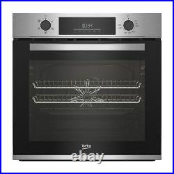 Beko AeroPerfect Fan Electric Single Oven with Steam Cleaning Stainless Steel