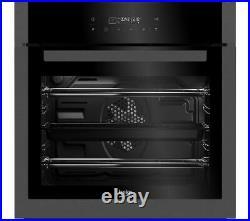 Beko BXIM29400Z Built In Multi Function Single Electric Oven Black Steel 60cm
