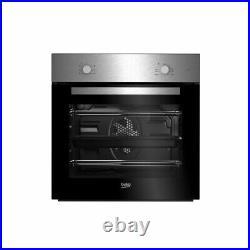 Beko Set Multifunction Built in Oven and Ceramic Hob Pack QSE222X Black Single
