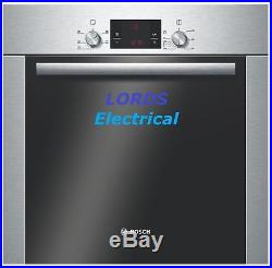 Bosch HBA13B253B Serie 6 Built In 60cm Electric Single Oven Brushed Steel New