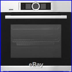 Bosch HBG6764S6B Serie 8 Built In 60cm A+ Electric Single Oven Brushed Steel