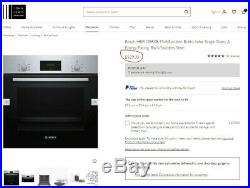 Bosch HBP13B150 Built-in Electric Single Oven, Touch control, Stainless Steel