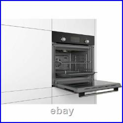 Bosch HHF113BA0B Serie 2 Built In Black Electric Single Oven + 2 Year Warranty