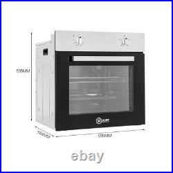 Built In Electric Oven 75L Single Multi Function Stainless Steel Plug Fitted NEW