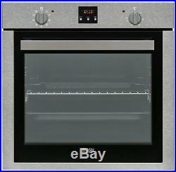 Bush BIDIOS Built-In 59.5cm Single Electric Fan Oven Dark Inox