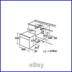 CDA SK410SS 60cm Built In 80L Single LCD Electric 10 Function True Fan Oven