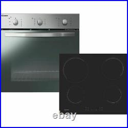 Candy COEHP60X/E Single Oven & Ceramic Hob Built In Stainless Steel