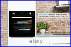 Candy FCP615NX/E Built In 65L Single Multifunction Oven Black
