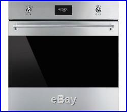 ExDisplay Smeg SFP6378X Classic Multifunction Pyroltic Single Oven Stainless St