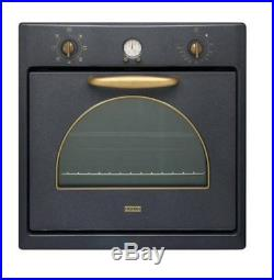 Franke Country Designer Retro Built In Single Graphite Electric Oven Cf55mgf/n