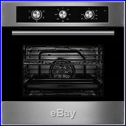 GRADED Cookology COF600SS 60cm S/Steel Built-in Single Electric Fan Oven & Timer
