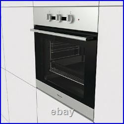Hisense BI3111AXUK 71L Multifunction Electric Built-in Single Oven With Steam Cl
