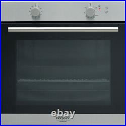 Hotpoint GA2 124 IX Built-in Gas Single Oven with Electric Grill & Rotisserie
