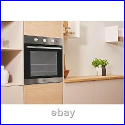 Indesit IFW6230IXUK Four Function Electric Built-in Single Oven Stainless Stee