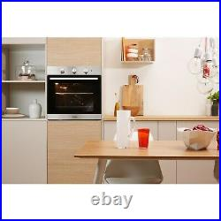 Indesit IFW6330IX Four Function Electric Built-in Single Oven Stainless Steel