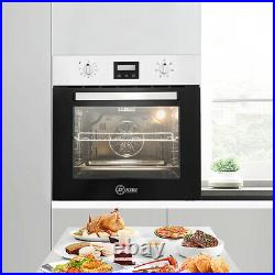 LED display Timer 60cm Built-in Single Rack Electric Oven Plug Fitted 50-250