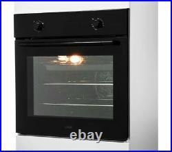 LOGIK Built in Electric Single Fan Oven 66 litres A Rated LBFANB20 Black