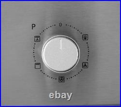 Logik Integrated Built-in 60cm Electric Single Fan Oven Oven Black silver