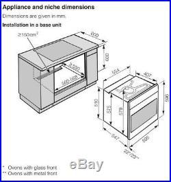 MIELE H2566BP Contourline Built-in Single oven electric Clean Steel