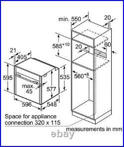 NEFF B47CS34H0B N90 Slide & Hide 13 Function Touch Control Single Ove B47CS34H0B