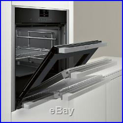 NEFF B47CS34H0B N90 Slide&Hide Built In 60cm A Electric Single Oven Stainless