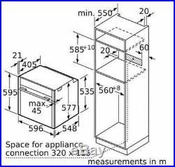NEFF B57CR22N0B N70 Slide & Hide Electric Built-in Single Oven (668)