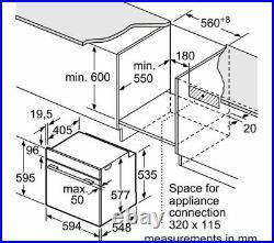 NEFF N50 Slide&Hide B4ACF1AN0B Built In Single Oven Stainless Steel HA3420