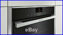 NEFF N90 B57VS24N0B Slide&Hide Built In Steam Single Oven, RRP £1299