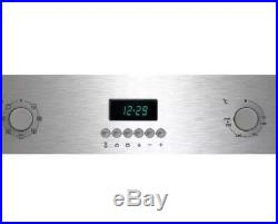 NEW LOGIK LBMFMX17 Electric Single Oven & Grill Stainless Steel 60cm Built In