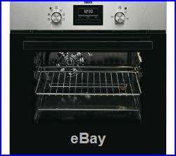 NEW ZANUSSI 53 Litres ZZB35901XA Built In Electric Single Oven Stainless Steel A