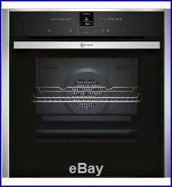 Neff B47CR32N0B S/teel Integrated built in Electric Slide & hide single oven