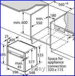 Neff B47CR32N0B Slide and hide built in single oven HW172600