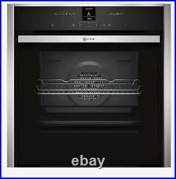 Neff B57CR22N0B Slide and Hide Pyrolytic Single Oven Stainless Steel- Used