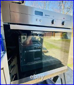Neff Circa Therm B12S22N3GB Stainless Steel Built-in Single Electric Fan Oven