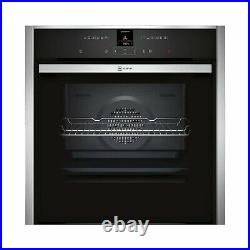 Neff N70 Slide & Hide 12 Function Pyrolytic Self Cleaning Electric Single Oven
