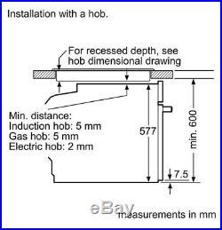 Neff Slide&Hide B57CR22N0B S/steel Built-in Electric Single Pyrolytic Ovensingle