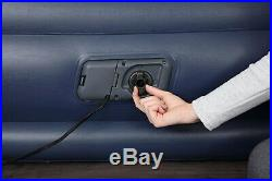 New Bestway Single Flocked Inflatable Air Bed With Built-in Pillow Electric Pump